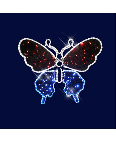 "3D фигура светодиодная ""Бабочка"", 0.9х0.7х0.2м, 23 Вт"