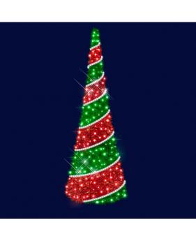 """3D светодиодная ёлка двухцветная """"Рождественская"""" 3,0*1,0"""