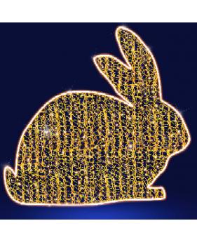 """3D светодиодная конструкция """"Пасхальный кролик"""""""