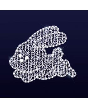 """3D светодиодная конструкция """"Пасхальный заинька"""""""