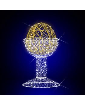 """3D светодиодная конструкция """"Яйцо в пашотнице"""""""