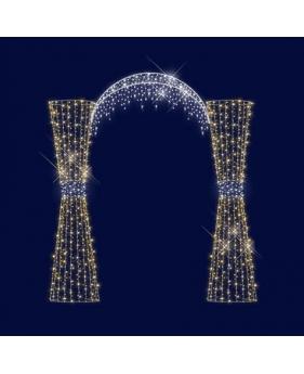 """3D светодиодная арка """" Праздник"""" 3,5*3,2"""