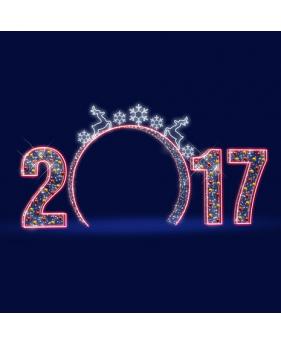 """3D светодиодная арка """"Новый год"""" 7,0*3,5"""