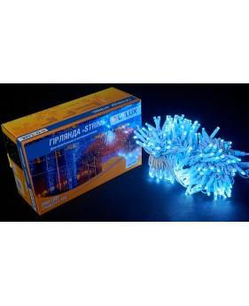 Светодиодная наружная гирлянда DELUX STRING 100LED 10m 20flash(белый провод,белый цвет диода)