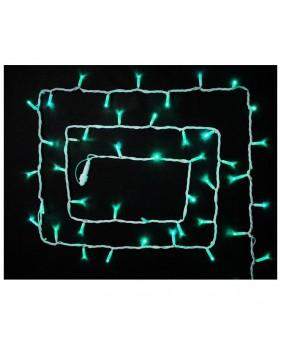 Светодиодная наружная гирлянда DELUX STRING 100LED 10m 20flash(белый провод,зелёный цвет диодов)