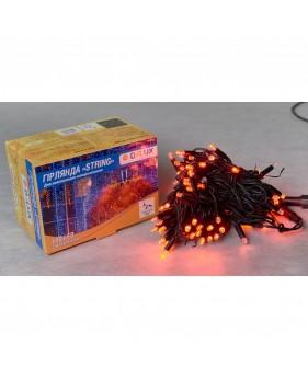 Светодиодная наружная гирлянда STRING 100LED 10m (черный провод,красный цвет диода)