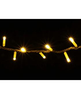 Гирлянда DELUX STRING 200LED 10m желтая/белый провод  внешняя