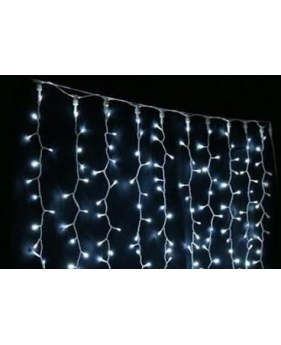 Новогодняя гирлянда DELUX CURTAIN 1520LED 2x7m транс бел.син./пр IP44 внешняя
