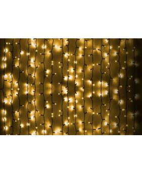 Новогодняя гирлянда DELUX CURTAIN 1520LED 2x7m, желтая/черный провод, внешняя