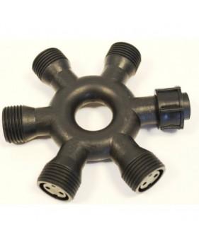 Коннектор для гирлянд IP44 на 6 выходов круглый