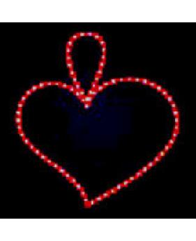 """Светодиодный мотив """"Сердце с петелькой"""""""