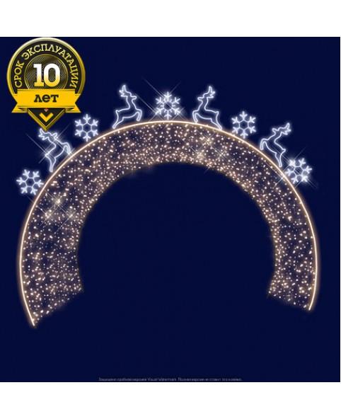 """3D светодиодная арка """" Новогодняя"""" 5,5*4,0"""