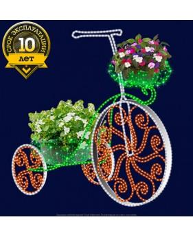 3D светодиодная конструкция велосипед