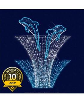 """3D светодиодный фонтан """" Дельфинчики"""""""