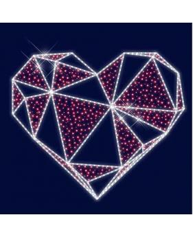 """3D светодиодная конструкция """" Рубиновое сердце"""""""