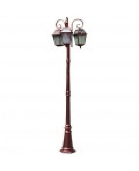 Садово-парковый светильник DeLux PALACE 1019E/3 красная медь