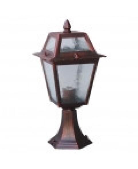 Садово-парковый светильник DeLux PALACE 1019A1 красная медь