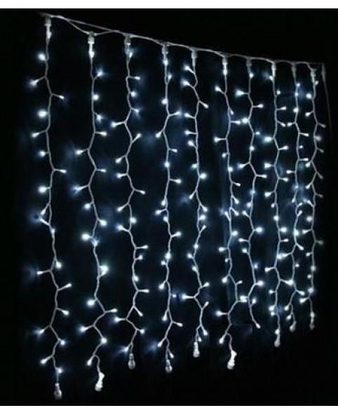 Новогодняя гирлянда DELUX CURTAIN 1520LED 2x7m, белая/черный провод, внешняя