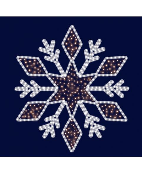 """Светодиодная снежинка """"Красота"""""""