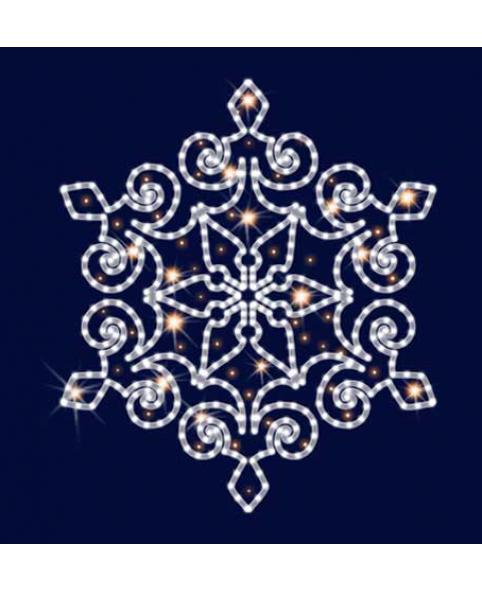 Снежинка светодиодная SL038