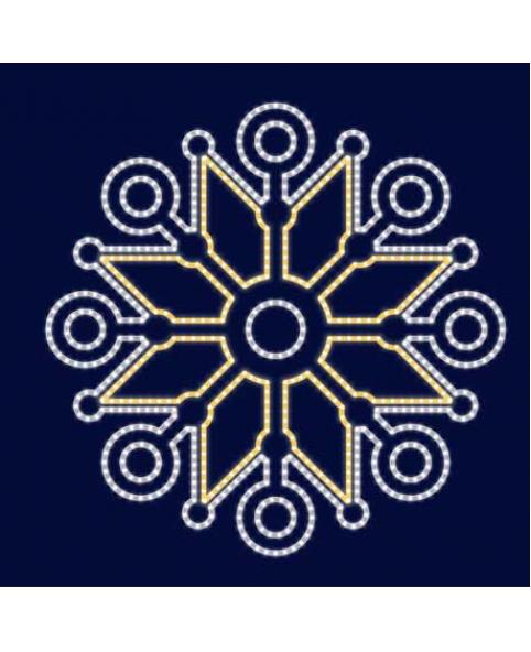 Снежинка светодиодная SL056