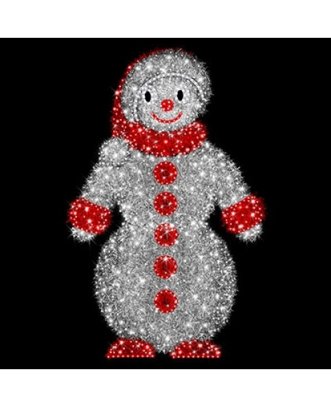 """3D фигура светодиодная """"Снеговик"""", 1.4х2.2х1.4м, 48 Вт"""