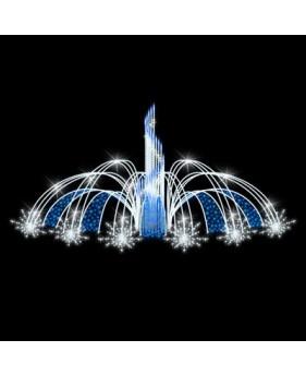 """3D светодиодный фонтан """"Брызги света"""""""