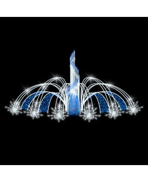"""Фонтан светодиодный """"Брызги света"""", бело-голубой"""