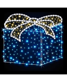 """3D фигура светодиодная """"Подарок"""", 0.5х0.5х0.65м"""