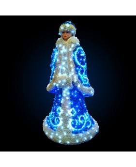 "3D фигура светодиодная ""Снегурочка"", 1.8х0.85м, 65 Вт"
