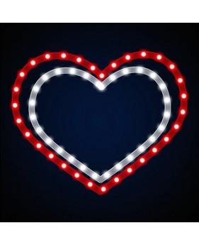 """Светодиодный мотив """"Двойное сердце"""""""