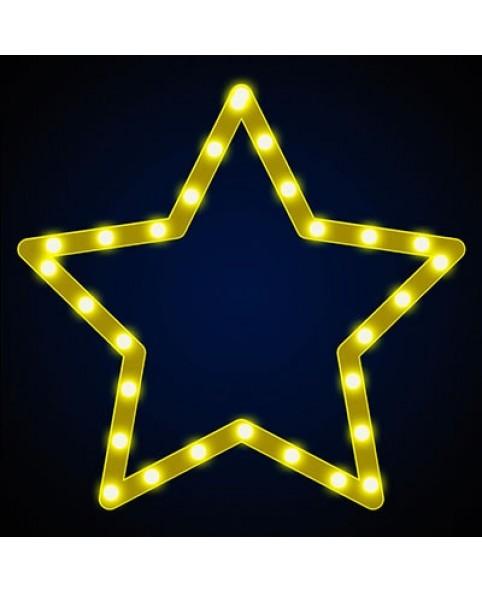 """Звезда светодиодная """"Стандарт"""", 0.3x0.3 м, пятиконечная, желтая"""