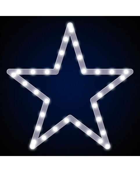 """Звезда светодиодная """"Стандарт"""", пятиконечная, белая"""
