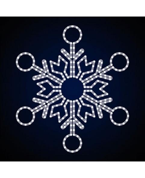 """Снежинка светодиодная """"Округлая"""""""