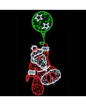 "Панно светодиодное ""Дед Мороз на шарике"""