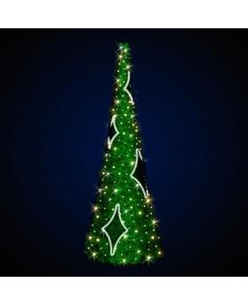 """Ёлка конусная светодиодная  """"Праздничная"""", 3 метра, зелёная"""