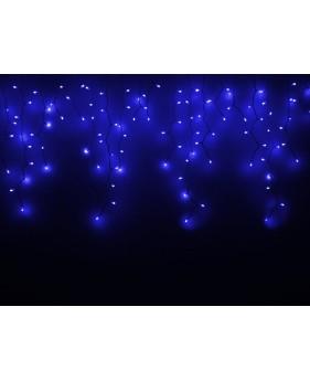 Новогодняя гирлянда DELUX ICICLE 120ED 2x0.9, синяя/белый провод, внешняя