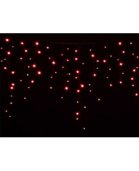 Новогодняя гирлянда DELUX ICICLE 120ED 2x0.9, красная/черный провод, внешняя