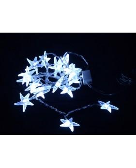 LED гирлянда DELUX STARFISH  внутренняя 20LED белая/прозрачный провод, внутренняя