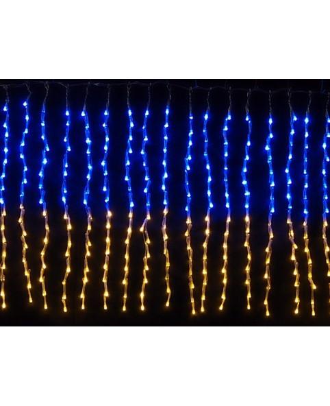 Гирлянда светодиодная CURTAIN сине - желтая/прозрачный кабель, внутренняя