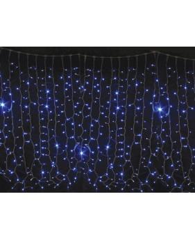 Гирлянда светодиодная CURTAIN 456LED синяя/прозрачный кабель, внутренняя