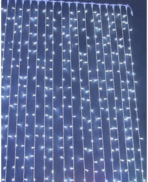 Гирлянда светодиодная CURTAIN 912LED белая/прозрачный кабель, внутренняя