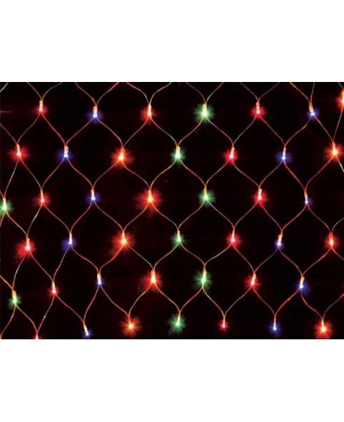 Гирлянда светодиодная DELUX NET C 184LED мульти/прозрачный кабель, внутренняя