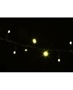 Гирлянда DELUX STRING 200LED 10m желтая/черный провод  внешняя