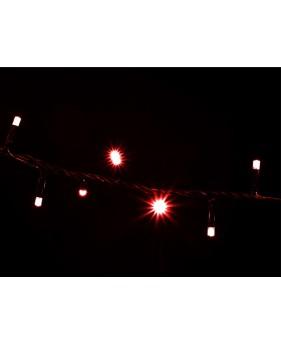 Гирлянда DELUX STRING 200LED 10m красная/черный провод, внешняя