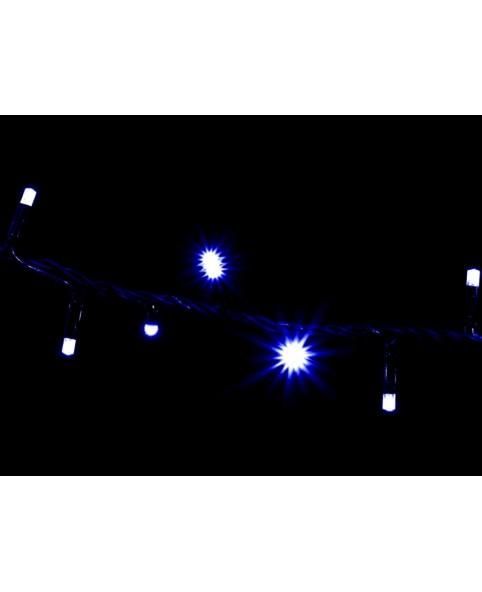 Гирлянда DELUX STRING 200LED 10m синяя/черн, бел провод  внешняя