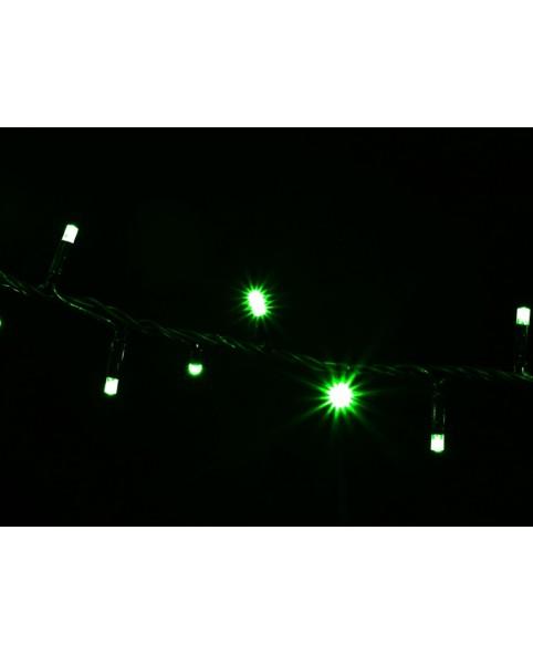 Гирлянда DELUX STRING 200LED 10m зеленая/бел, черн провод, внешняя