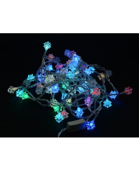 Новогодняя гирлянда DELUX DIAMOND внутренняя 60LED 7.5m RGB, внутренняя