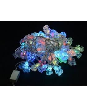 Внутренняя гирлянда DELUX SANTA 60LED 7.5m RGB, внутренняя